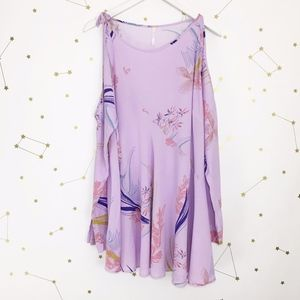 Free People • Clear Skies Purple Floral Tunic Top